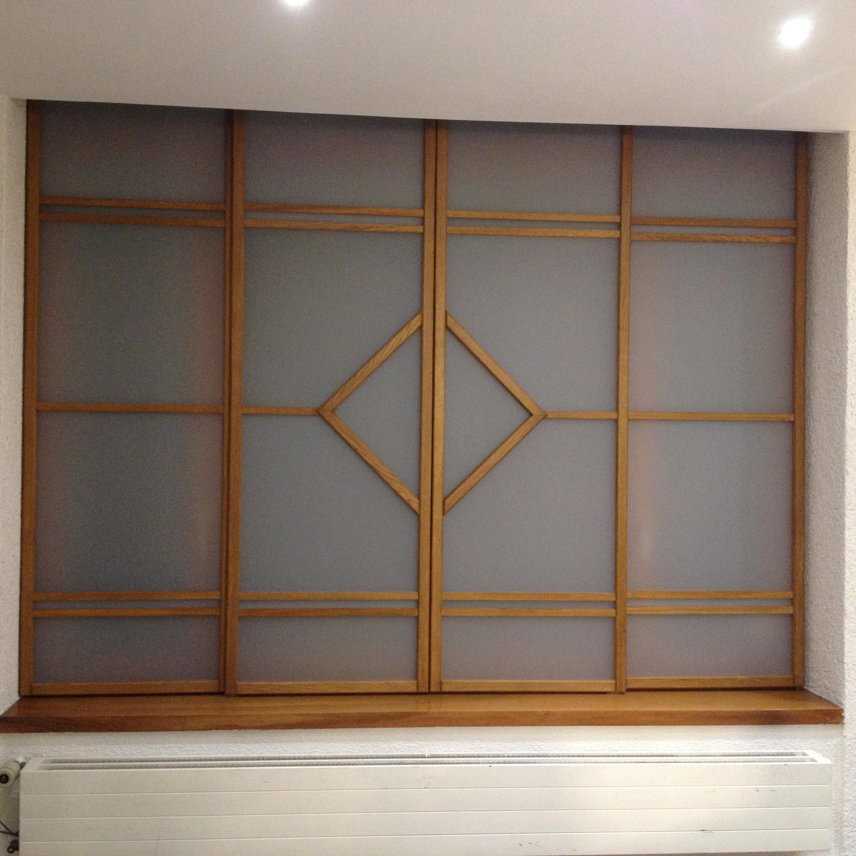 Porte coulissante Ichi en vitrine de bureau